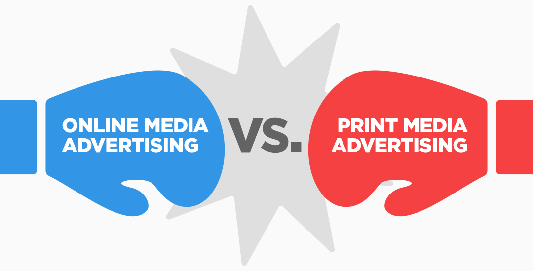 Illustration - Online Media vs. Print Media