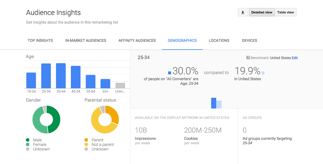 Image - AdWords audience insights report
