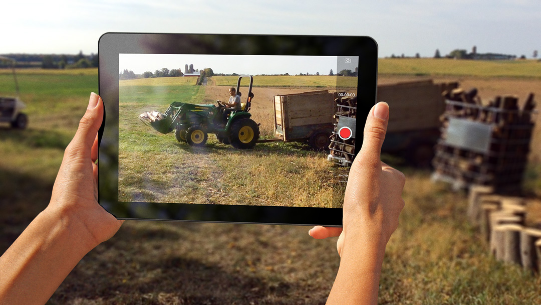 The families used tablet devices to capture unscripted videos of their lives on the farm.