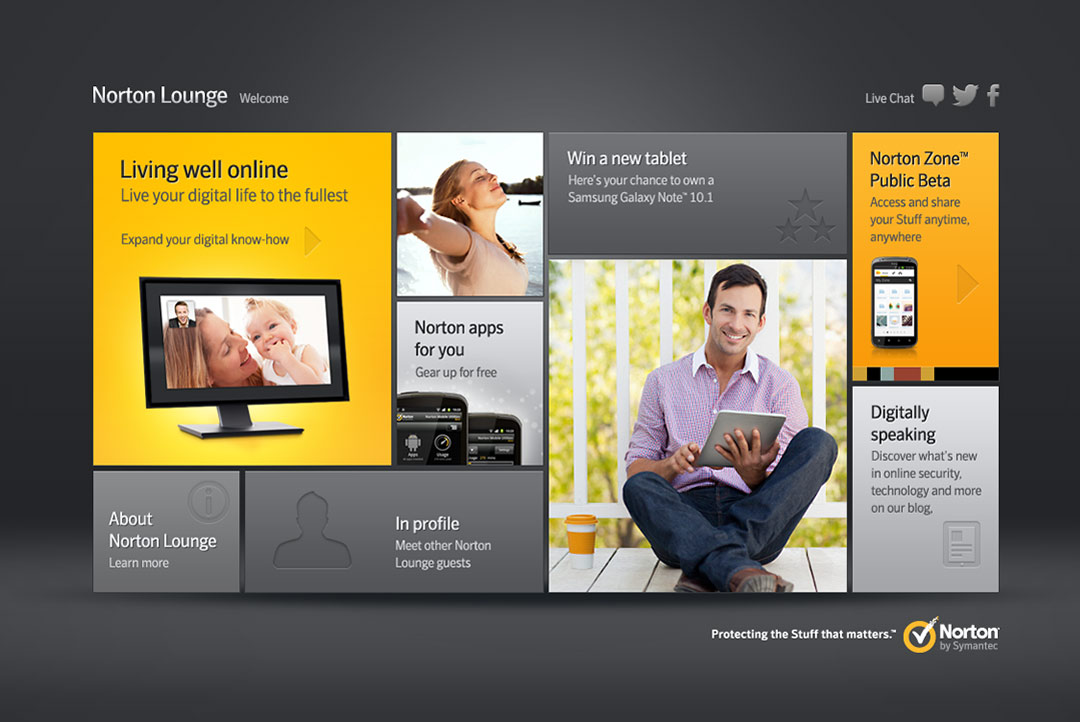 Symantec Norton lounge website